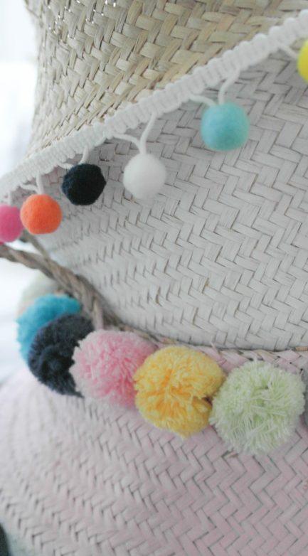DIY Korb mit Pompons