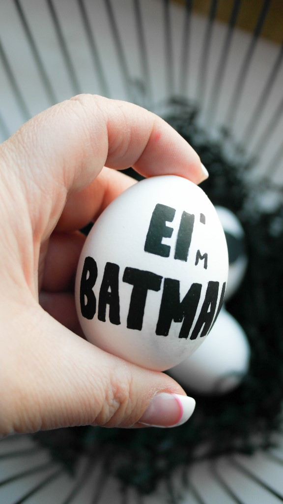 Ei´m Batman Osterei DIY