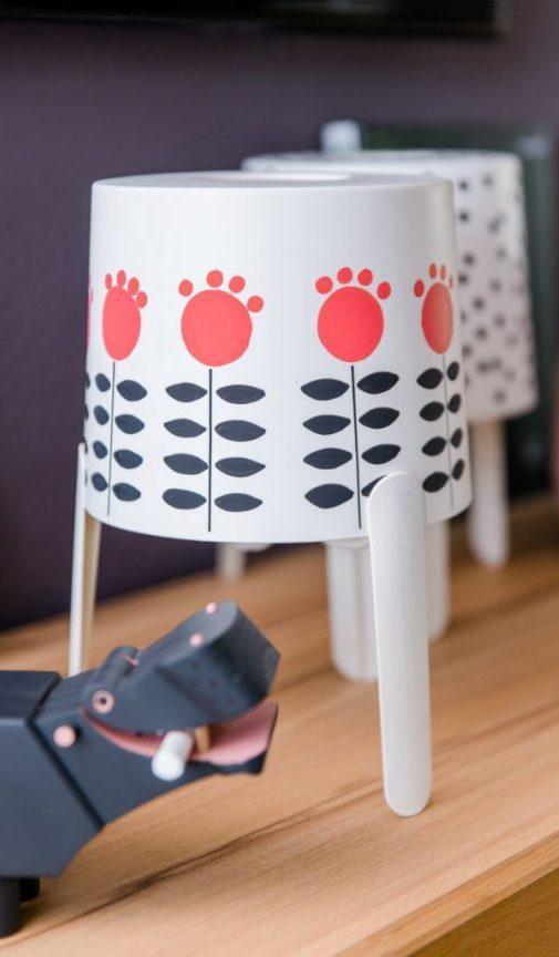 Ikea Hack DIY Lampe Blumenmuster Katimakeit.de