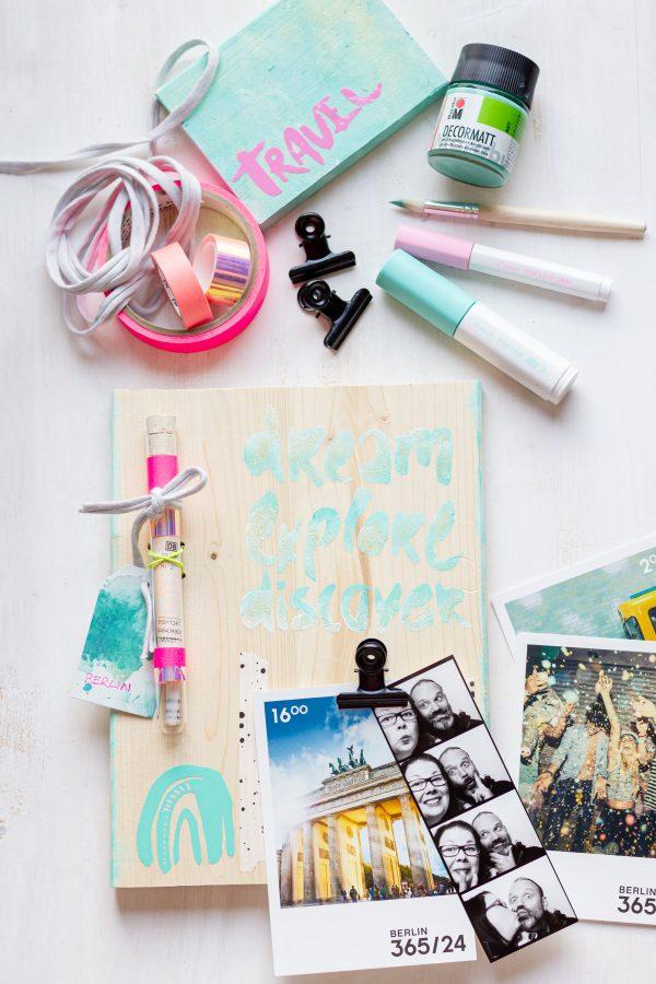 Foto Pinnwand aus Holz zur Aufbewahrung von Fotoerinnerungen