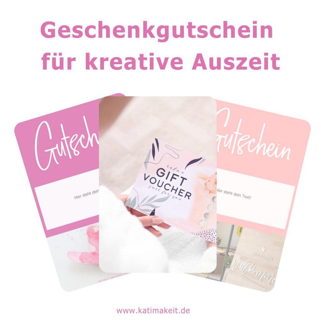 kreativer Geschenkgutschein