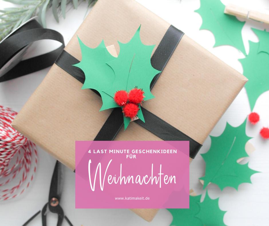Last Minute DIY-Weihnachtsgeschenke und Ideen einfach zum Nachmachen