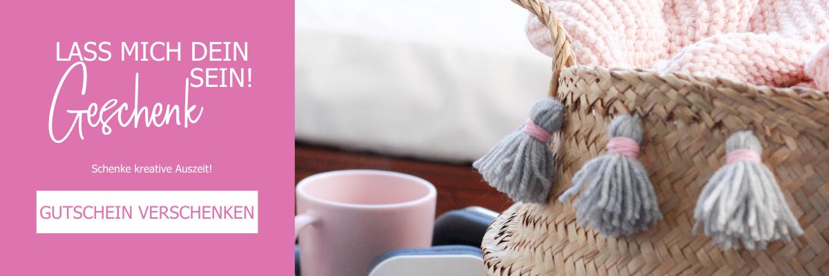 Verschenke einen Gutschein für DIY Workshops - Kreative Auszeit als Geschenkidee