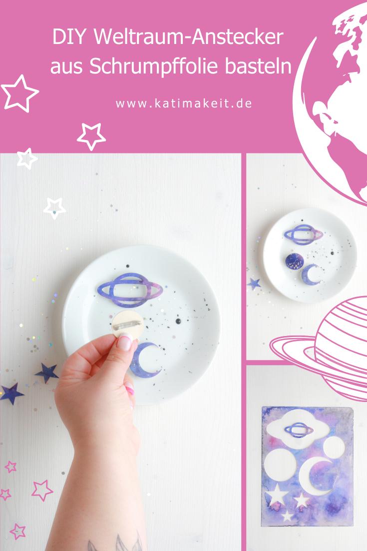 DIY Idee für Kinder Weltraum-Anstecker