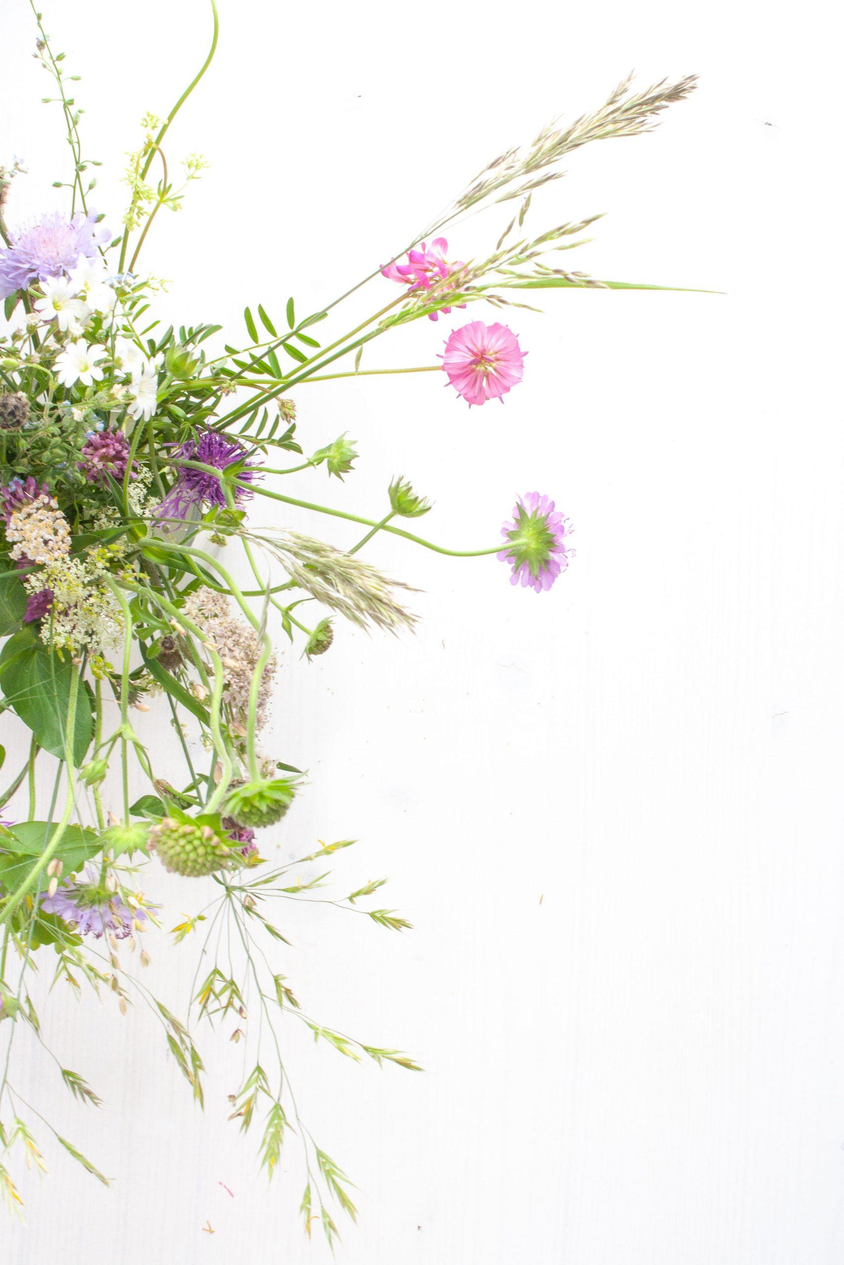 Sommerlicher Wiesenblumenstrauß