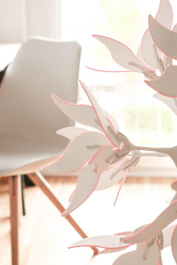 Blütenlampe IKEA Hack - einfach und günstig Lampe pimpen