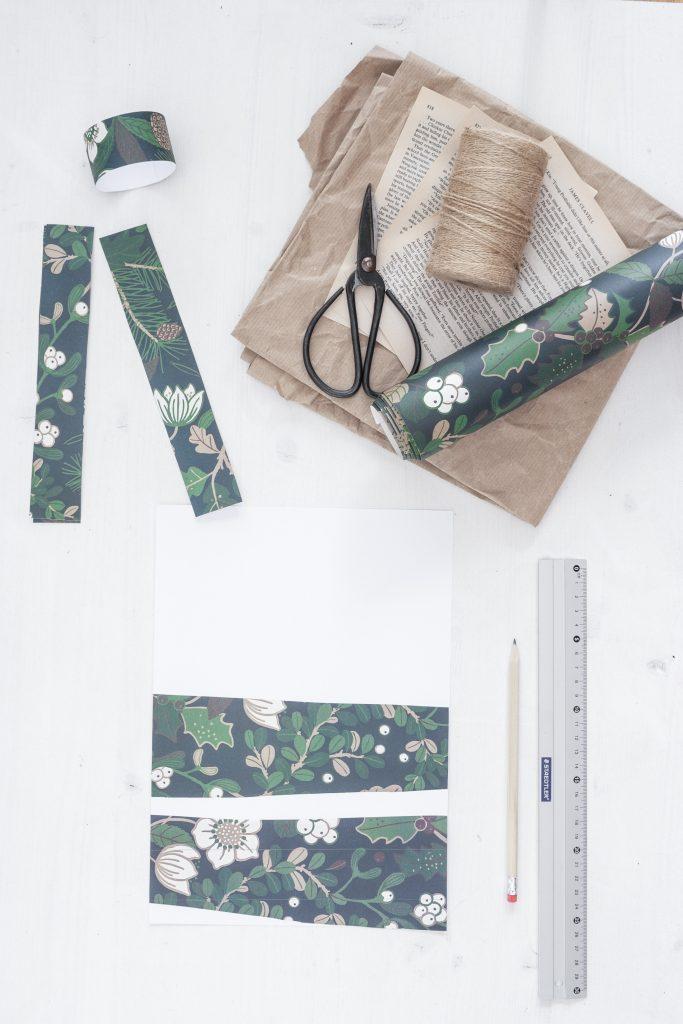 DIY Serviettenring aus Geschenkpapier