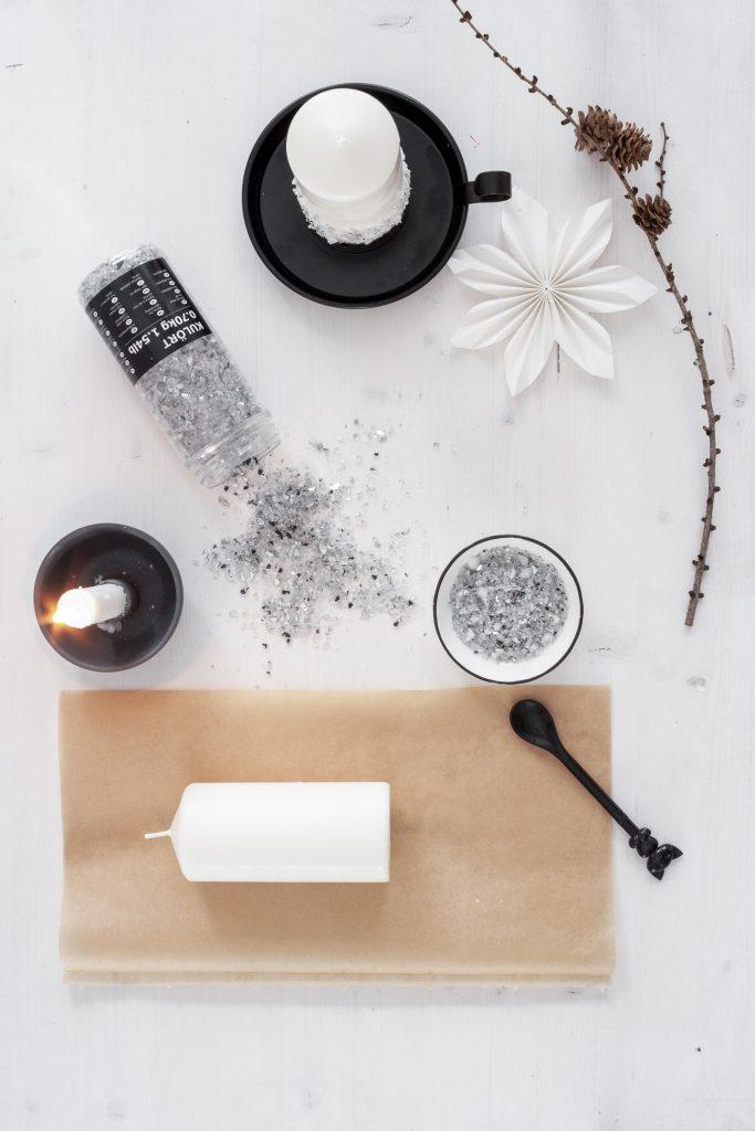 Kerzen DIY mit Glassplittern