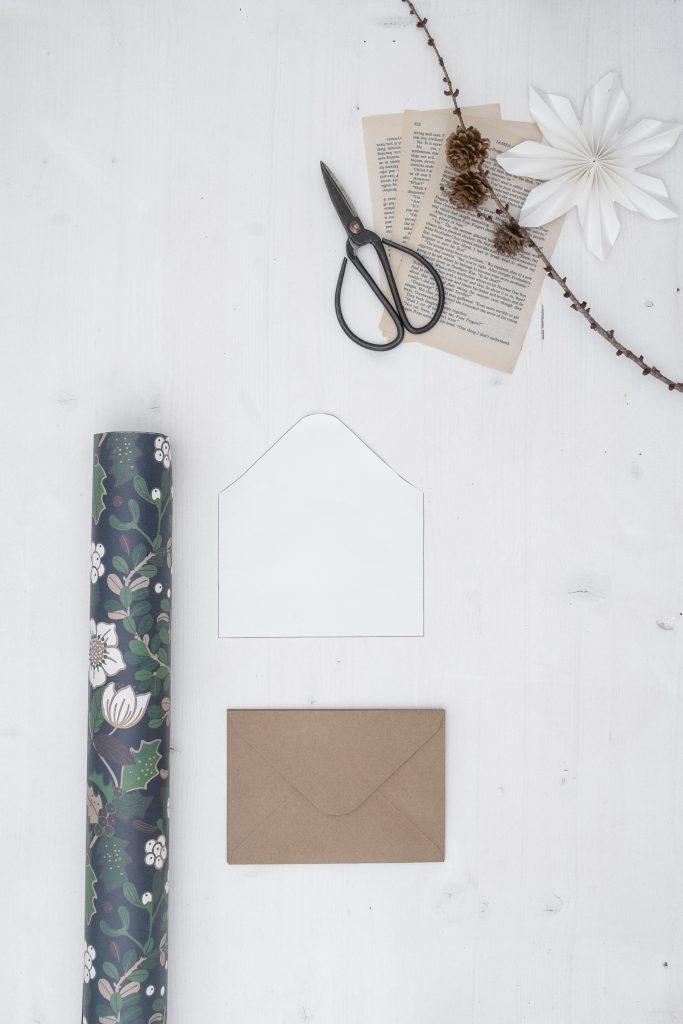 DIY Umschlag für Menükarte