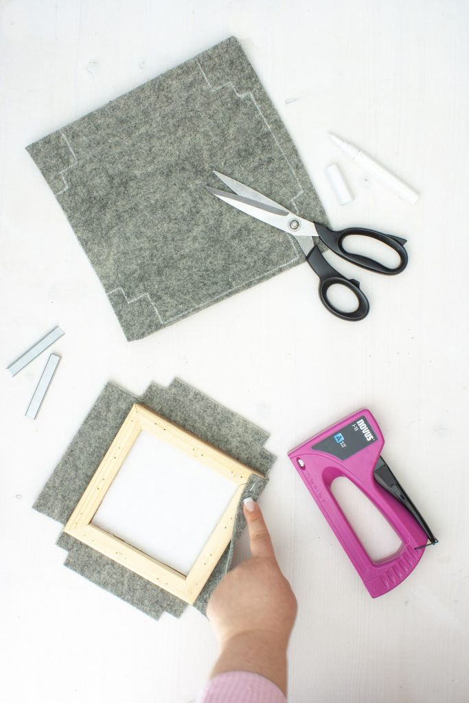 DIY Tipp für Pinnwand mit Filz.
