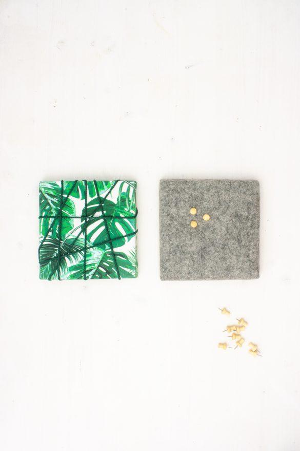 Pinnwand mit Stoff, Filz und Kork einfach selber machen