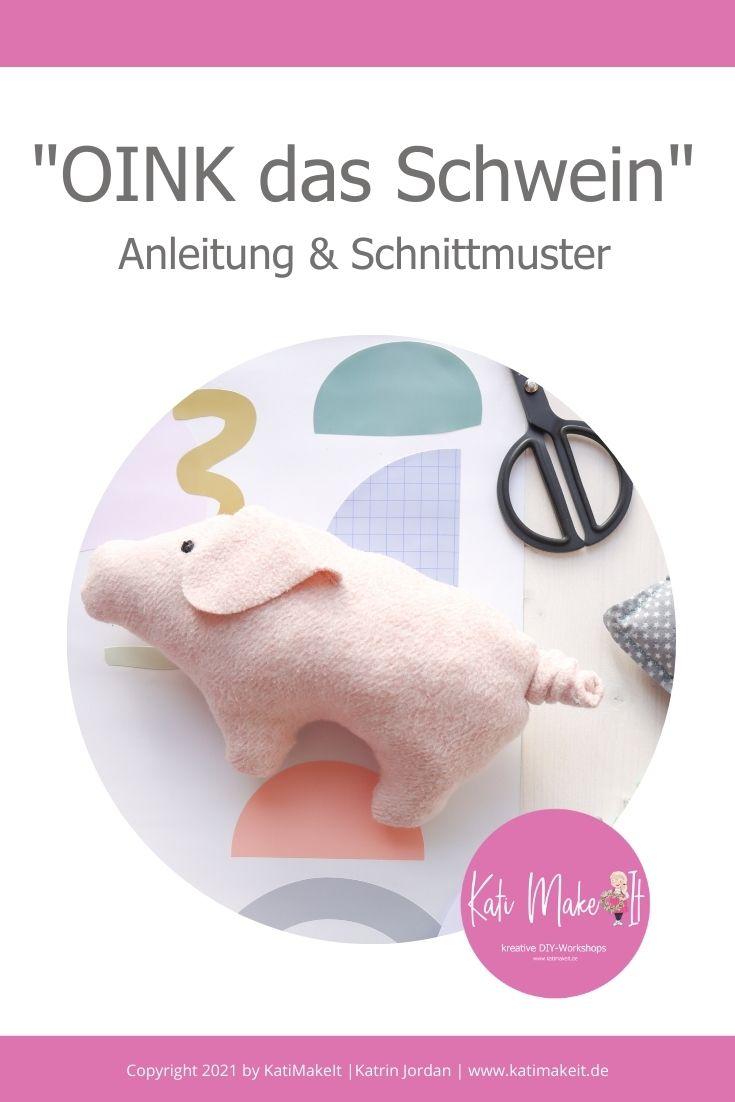 eBook Nähen für Anfänger. Glücks-Schwein, Kuscheltier nähen nach Anleitung